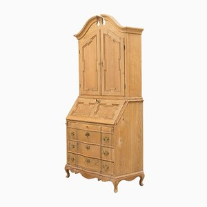 Vintage French Beech Secretaire