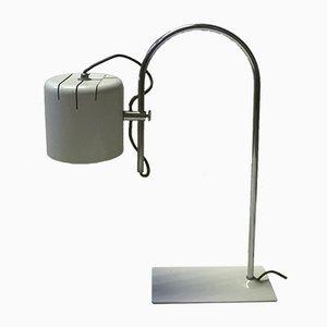 Lámpara de mesa italiana vintage blanca, años 70