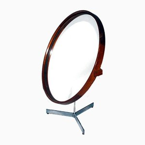 Swedish Teak Table Mirror by Uno & Östen Kristiansson for Luxus, 1960s