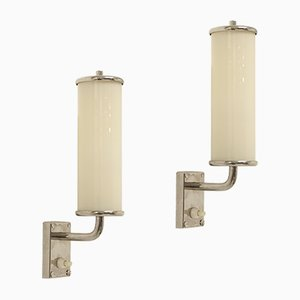 Mid-Century Functionalist Wall Lights, 1950s, Set of 2