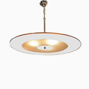 Art Deco Mirrored Frosted Glass Ceiling Light