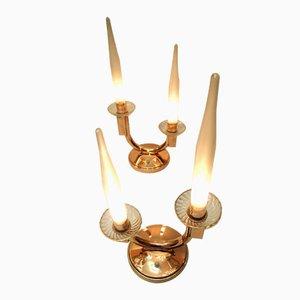 Lampade da tavolo Art Déco moderniste di Genet & Michon, Francia, 1937, set di 2