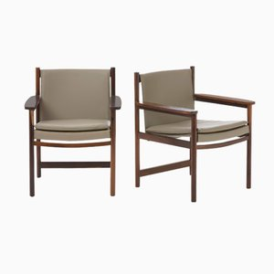 Brazilian Jacarandá Armchairs by Sergio Rodrigues for Oca, 1955, Set of 2