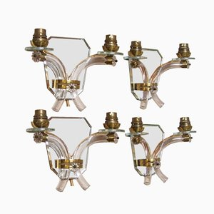 French Art Deco Wall Sconces from Maison Jansen, 1952, Set of 4