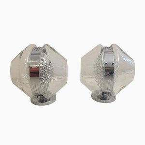Sculptural Italian Volcano Glass Sconces by Toni Zuccheri, Set of 2