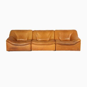 DS-46 Thick Buffalo Leather Lounging Chairs from de Sede, 1970s, Set of 3