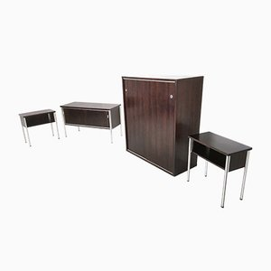 Rosewood Office Furniture Set from Luigi Sormani, 1970s