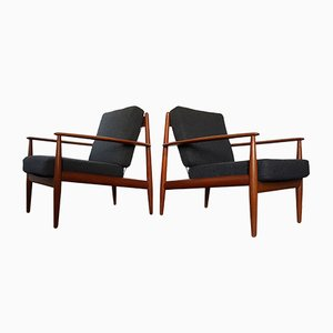 Lounge Chairs by Grete Jalk for France & Daverkosen, 1960s, Set of 2