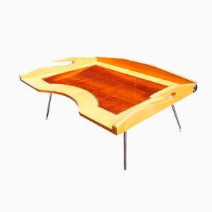 Mesa bandeja plegable de desayuno Mid-Century de madera
