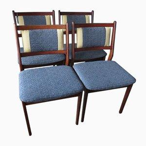 Palisander Stühle, 1960er, 4er Set