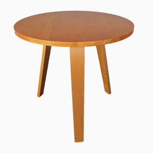 Round Plywood Side Table by Cor Alons and Willem Lutjens for Gouda den Boer, 1950s