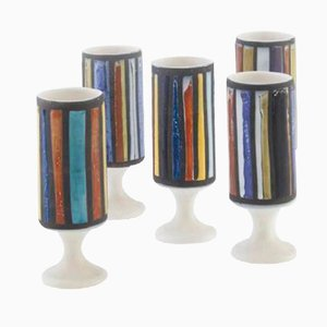 Ceramic Cups by Roger Capron, 1950, Set of 5