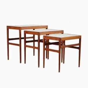 Tavolini a incastro di Knud Mortensen per Illums Bolighus, anni '50