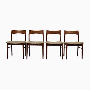 Chaises de Salon Vintage en Teck par Henning Kjaernulfs pour Vejle Støle OG. Møbelfabrik, Set de 4