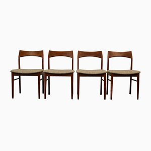Vintage Teak Dining Chairs by Henning Kjaernulfs for Vejle Støle OG. Møbelfabrik, Set of 4