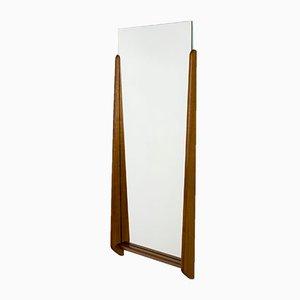 Specchio da parete con forma organiza in teak, Danimarca, anni '60