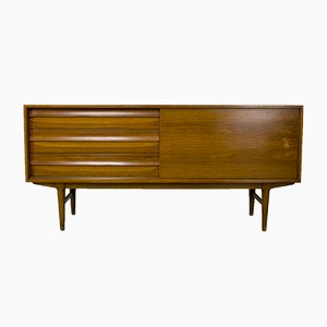 Modernes Mid-Century Walnuss Sideboard mit Schubladen, 1960er