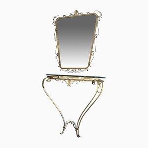 Table et Miroir par Pier Luigi Colli pour Colli, 1950s