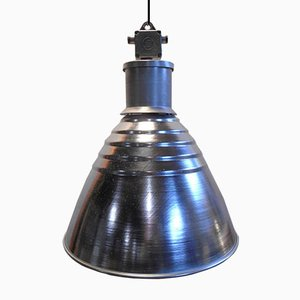 Lámpara colgante industrial grande de aluminio