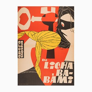 Polish Vintage Opera Poster by Tadeusz Gryglewski for RSW Prasa Katowice, 1960s
