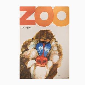 Vintage Zoo Chorzow Poster by Marek Mosiński for RSW Prasa Katowice, 1968