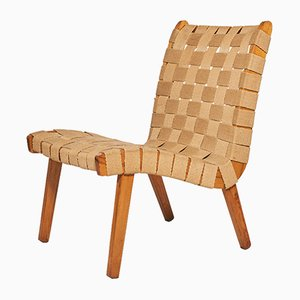 Czech Beech & Textile Chair, 1960s