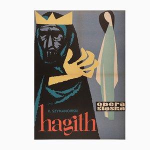Affiche Opera par Tadeusz Gryglewski pour RSW Prasa Katowice, Pologne, 1960s