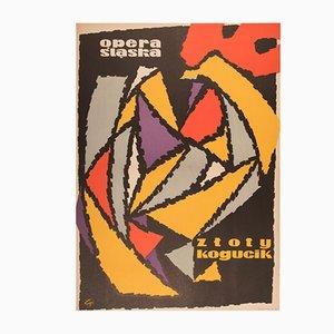 Opera Poster by Tadeusz Gryglewski for RSW Prasa Katowice, 1960s