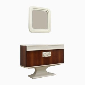 Italian Console & Mirror from Luigi Sormani, 1960s