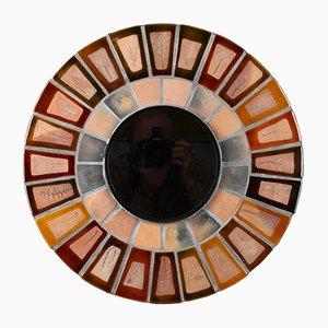 Specchio rotondo di Roger Capron, anni '60