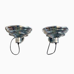 Lampade da parete industriali, anni '60, set di 2