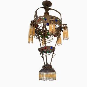 Lámpara de araña Liberty italiana, años 10