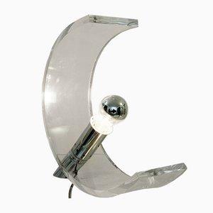 Französische Mid-Century Plexiglas Tischlampe von Atelier A