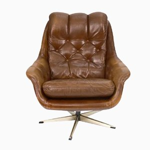 Vintage English Armchair with Skai Seating