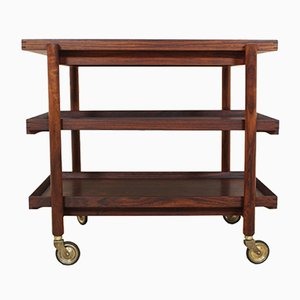 Rosewood Serving Trolley from Poul Hundevad, 1961