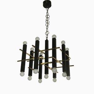 Lámpara de araña italiana minimalista de Gaetano Sciolari para Sciolari, 1970