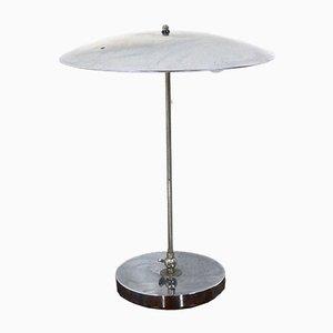 Lámpara de mesa holandesa Mid-Century de cromo de Hala Zeist, años 60