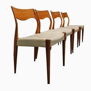Sedie da pranzo modello 71 di Niels O. Møller per J.L Møllers, 1959, set di 4