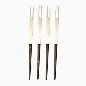 Mid-Century Fondue Forks by Carl Auböck for Amboss, Set of 4