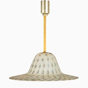 Lampe à Suspension Mid-Century Texturée par Aloys Ferdinand Gangkofner pour Peill & Putzler