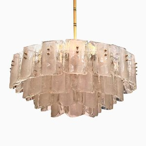 Large Crystal Glass Chandelier, 1960s