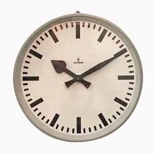 Orologio da parete industriale di Siemens, anni '50