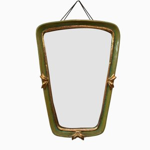 Vintage Art Deco Ceramic Wall Mirror from Gmundner Keramik