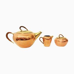 Servicio de té de tres piezas de Erich Kolbenheyer para EKW, años 50