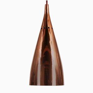 Lampada da soffitto a campana Mid-Century in rame di J. T. Kalmar