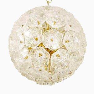 Sputnik Kronleuchter mit Murano Glas Blumen, 1960er