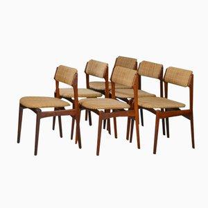 Dänische Palisander Esszimmerstühle von Erik Buch, 6er Set