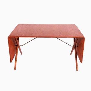 Tavolo da pranzo AT-309 con gambe incrociate di Hans J. Wegner per Andreas Tuck, 1952