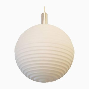 Vintage Large Opaline Glass Pendant Light