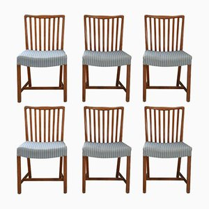 Cuban Mahogany Dining Chairs from Sondergaard Mobler, 1940s, Set of 6